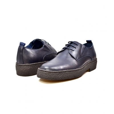 British Collection Playboy Original Low Navy Leather