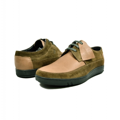 "British Collection ""Bristols"" Olive Suede and Tan Leather"