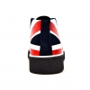"Classic Playboy ""Union Jack"" Red, White, Blue Leather and Suede"