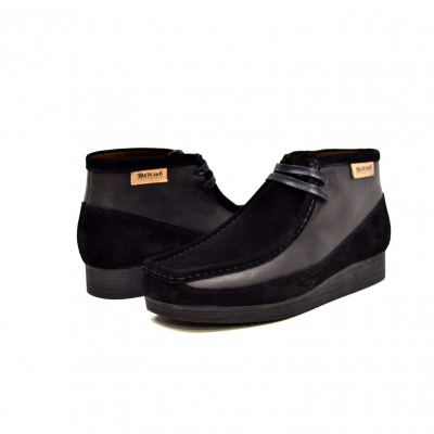 "British Collection""New Castle""-Black Suede and Leather"