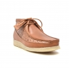 "British Collection""Walkers-Ostrich""-Cognac Leather and Ostrich.L"