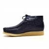 "British Collection""Walkers-Ostrich""-Navy Leather and Ostrich.L"