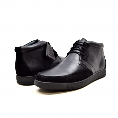 "British Collection ""Birmingham"" Black Leather and Suede"