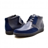 "British Collection ""Birmingham"" Navy Leather and Suede"