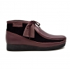 "British Collection""New Castle""- Plum Leather and Black Suede"