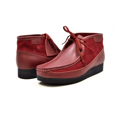 "British Collection""New Castle""- Cherry Leather and Suede"
