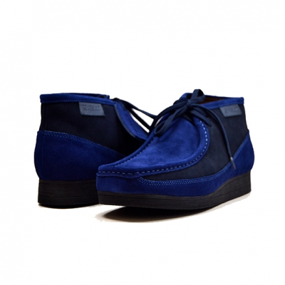 "British Collection""New Castle""-Blue and Grey Suede"