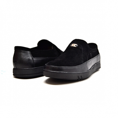 "British Collection ""Canterbury"" Black Leather and Suede"