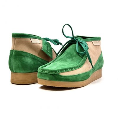 "British Collection""New Castle""-Green and Beige Suede"