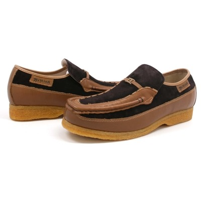 British Collection Power Old School Slip On Brown/Tan Shoes