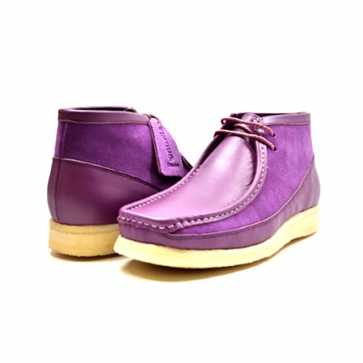 "British Collection ""Walkers""-Purple Leather and Suede"