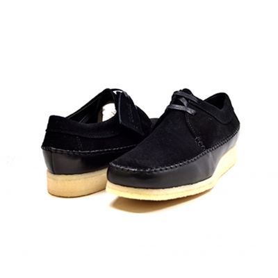 "British Collection ""Somerset-Low"" Black Leather and Suede"