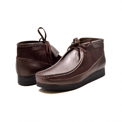 "British Collection""New Castle""-Brown Leather and Suede"