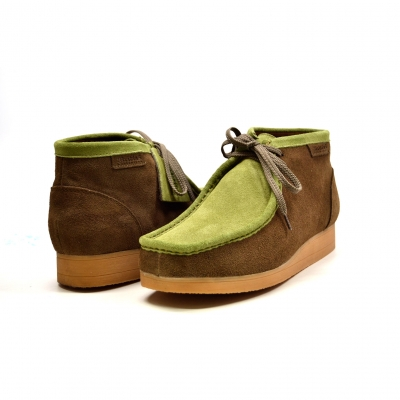 "British Collection""New Castle""-Forest Green and Olive Suede"