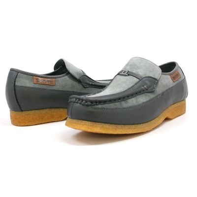 British Collection Power Old School Slip On Grey Suede Shoes