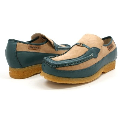 British Collection Power Old School Slip On Tan/Blue