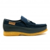 British Collection King Old School Slip On Navy Suede/Lea Shoes
