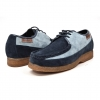 British Collection Crown-Navy/Light Blue Leather Suede